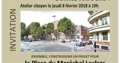 Atelier citoyen autour de la place du Maréchal Leclerc à Lille !